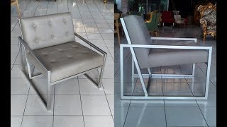 Mid Century Iron Sofa, A Nice Minimalist Sofa For Living Room Or Office