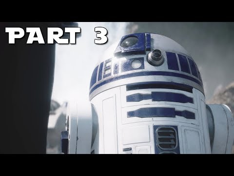 STAR WARS BATTLEFRONT 2 Walkthrough Gameplay Part 3 - Luke - Campaign Mission 3 (BF2 Battlefront II)