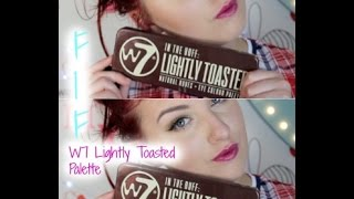 first impression friday   w7 lightly toasted palette