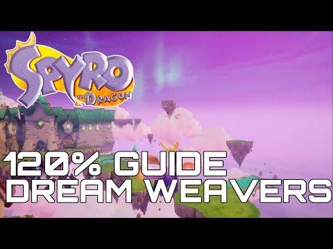Spyro The Dragon (Reignited) 120% Guide DREAM WEAVERS (ALL GEMS, DRAGONS, EGGS...)