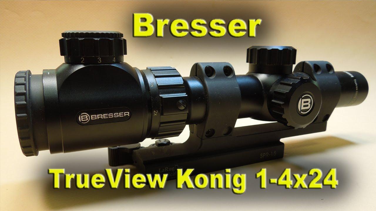 Download AR15 Mounted Bresser TrueView Konig 1-4x24 Scope REVIEW