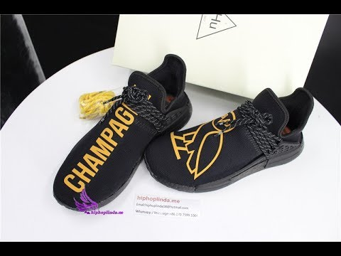 newest collection cadc5 a26d1 Early check : Champagne NMD Human Race OVO drake Custom Shoes unboxing  review