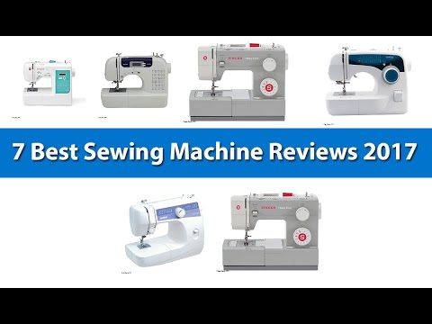 7 Best Sewing Machine Reviews 2017 |  Metal Frame And Stainless Steel Bedplate