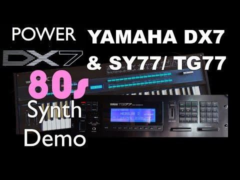 Yamaha DX7 & SY77 - 80's Synth demo and FM synthesis comparison with Van Halen, Madonna, Pink Floyd