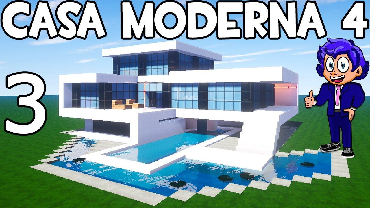 Casa moderna 4 en minecraft parte 3 c mo hacer y decorar for Casa moderna 9 mirote y blancana