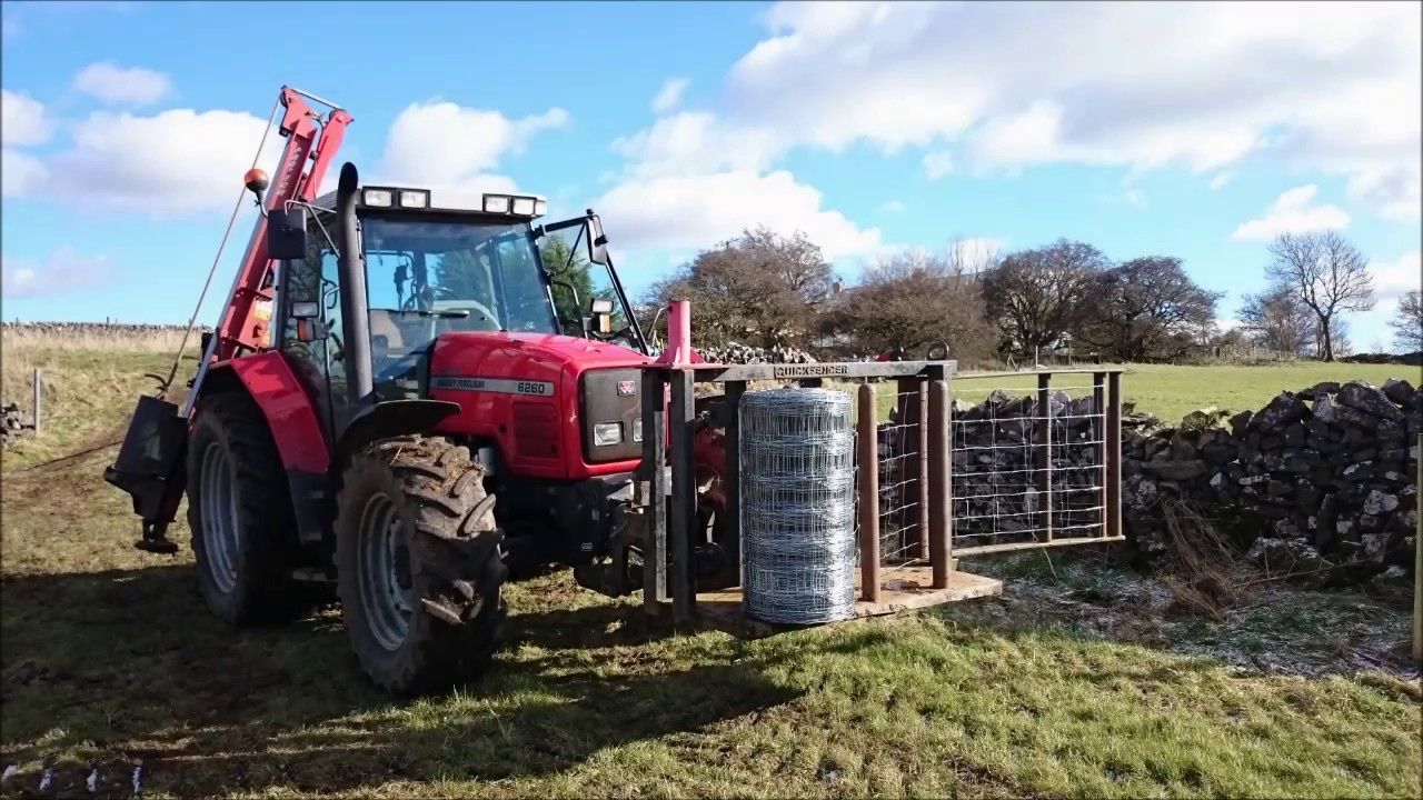 Quickfencer Wire Unrolling And Tensioning G Martin Fencing Youtube Les Also Strainer Fence Posts Further Electric Installation