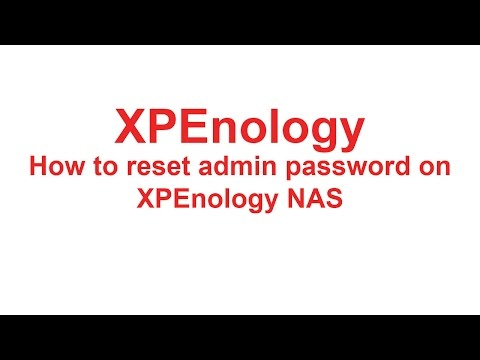 XPEnology - Reset admin password - YouTube