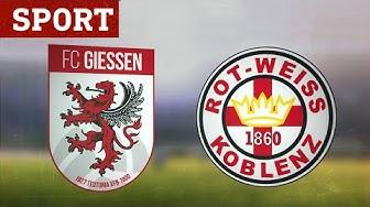 FC Gießen – Rot Weiß Koblenz (Highlights) | Fußball-Regionalliga Südwest | Sport