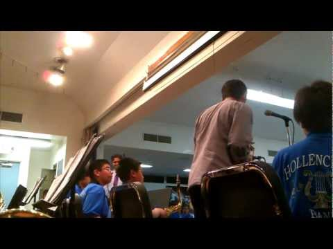 Hollencrest middle school Jazz Band Performing Blues Machine