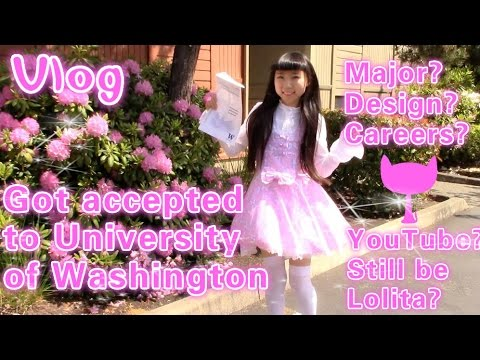 Vlog -  Reaction to University of Washington Acceptance | Major?Design?Career?Still be Lolita?
