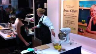 An Evening With Anna Olson: Making Banana Caramel Cheesecake Pt.1