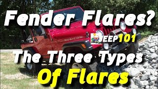 Aftermarket Types of Jeep Wrangler Fender Flares