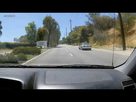 Driving through Rolling Hills Estate, CA