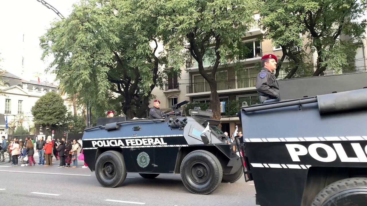 Desfile Militar independencia Argentina 9 Julio 2019 4k 39 de 45 Completo Police Truks