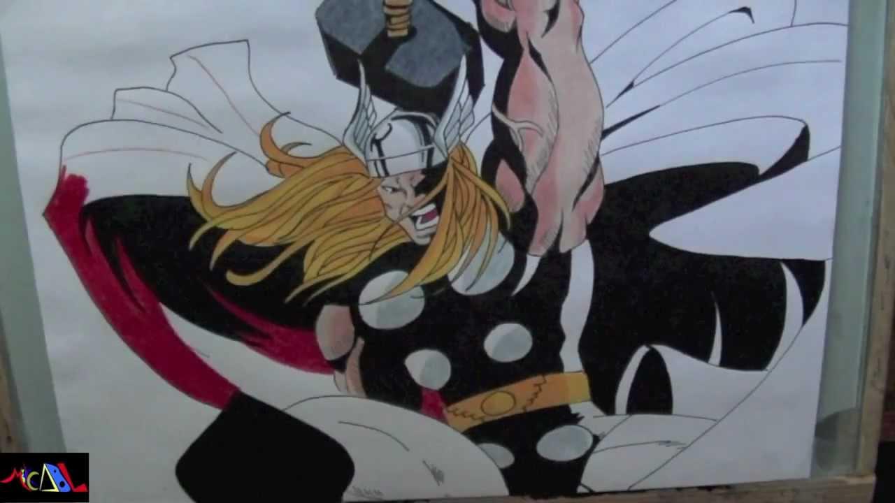 Dibujando a Thor  YouTube