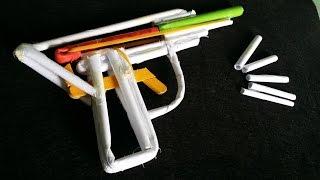 Cara membuat pistol kertas yang tunas peluru | peluru kertas