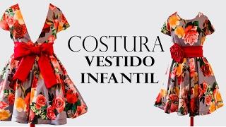COSTURA- VESTIDO GODÊ INFANTIL COM MANGA EMBUTIDA