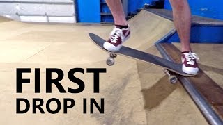 Video FIRST DROP IN - Learning to Skateboard Episode 4 download MP3, 3GP, MP4, WEBM, AVI, FLV Agustus 2018