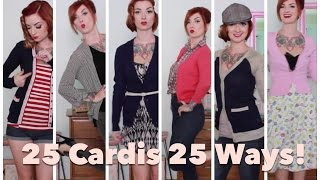 25 Cardigans 25 Ways! How to style yourself vintage by CHERRY DOLLFACE Thumbnail