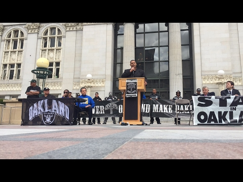 Oakland Raiders Fans Press Conference Livestream For Sports Lawyer Jim Quinn