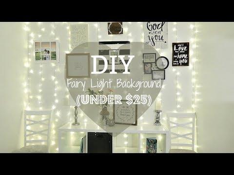 DIY FAIRY LIGHTS BACKGROUND (UNDER $25)♡