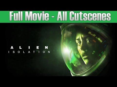 Alien Isolation Full Movie - All Cutscenes - GameMovie 1080p