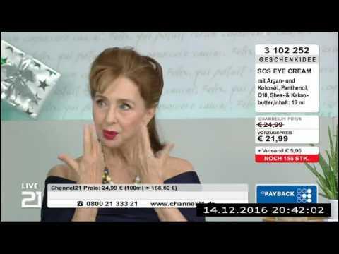 Christine Kaufmann bei Channel21 am 14.12.2016 - Teil 4