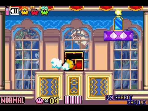 Kirby and the Amazing Mirror (100%) Part 5 - Carrot Castle on kirby dreamland map, kirby amazing mirror cheats vizzed, donkey kong country 2 map, kirby amazing mirror wiz, kirby and the magic mirror, kirby amazing mirror guide, breath of fire 2 map,