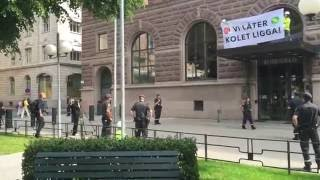 Climate action at Rosenbad, Stockholm 15/6