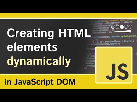 Document.createElement() - Javascript DOM