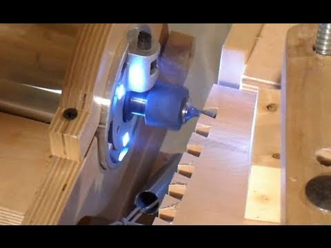 Cutting dovetail joints on the pantorouter