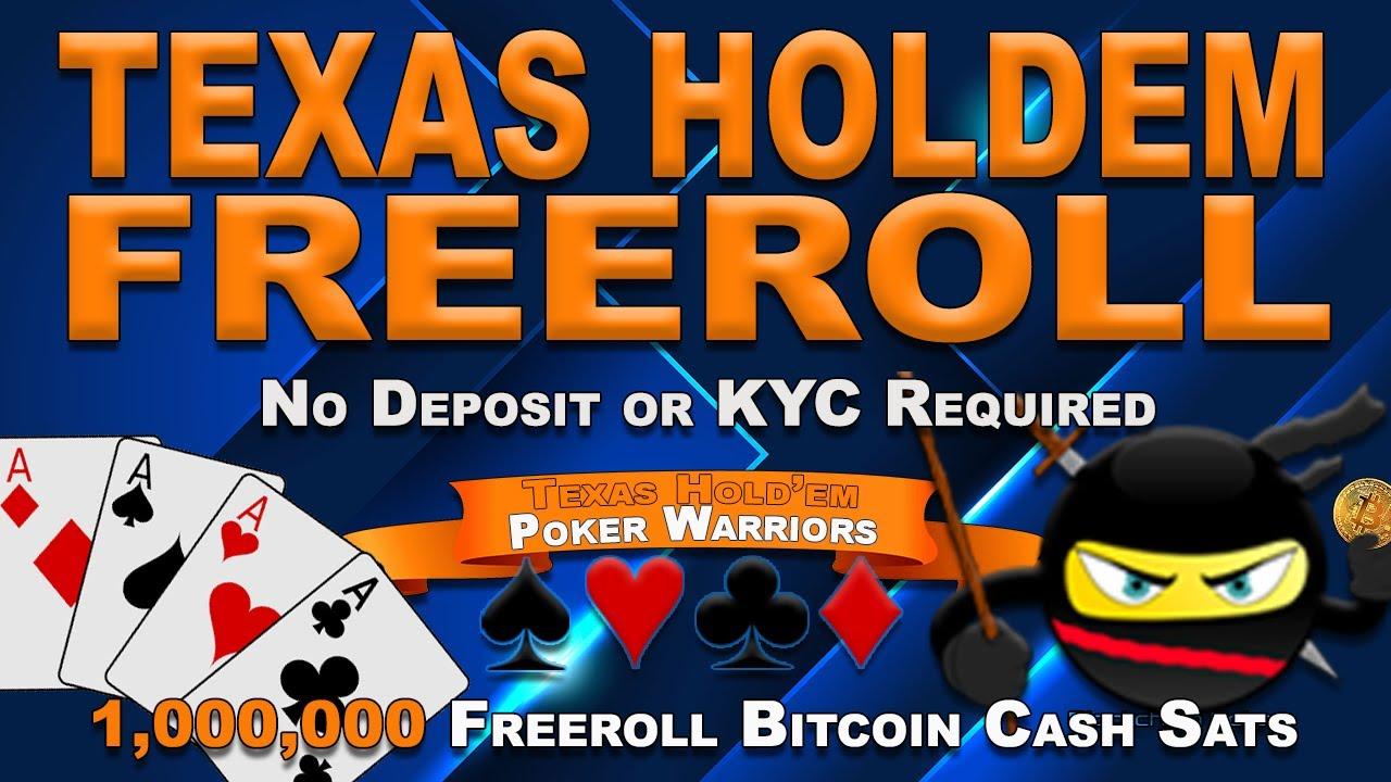 bitcoin póker freeroll