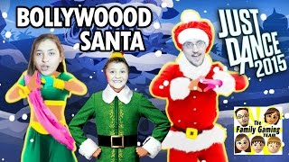 Lets Play Just Dance 2015! Santa Bollywood CHRISTMAS TREE w/ Mike, Mom & Dad