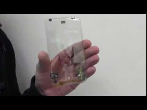 Transparent Smartphone Prototype By Polytron Hands On Video Youtube