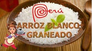 COCINA PERUANA | PREPARANDO ARROZ BLANCO BIEN GRANEADITO | FACIL Y RAPIDO