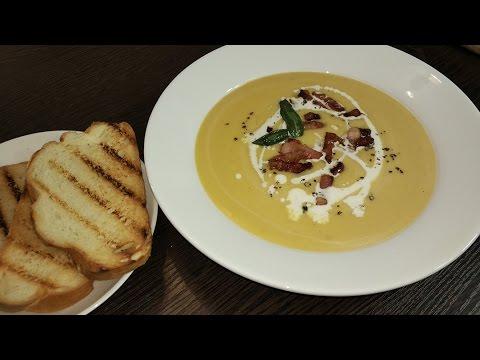 Сырный крем суп с беконом