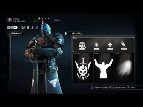 For Honor Warden [Reputation 10] 108 Gear/Features/Inventory