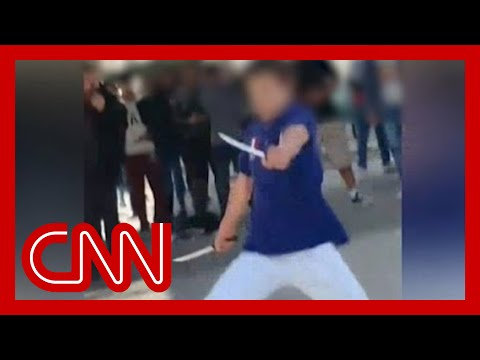 Knife-wielding teen shot at school thumbnail
