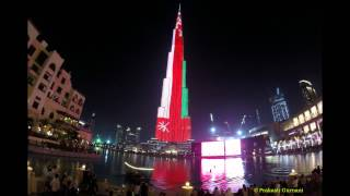 Burj Khalifa Timelapse LED Show - Jan 2015