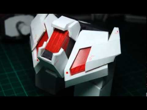 Papercraft Unicorn Gundam Paper Model