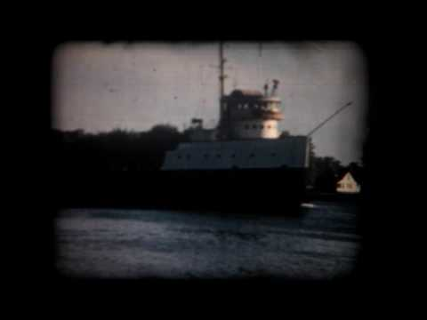 Lake Freighters on the St. Clair River 1957.