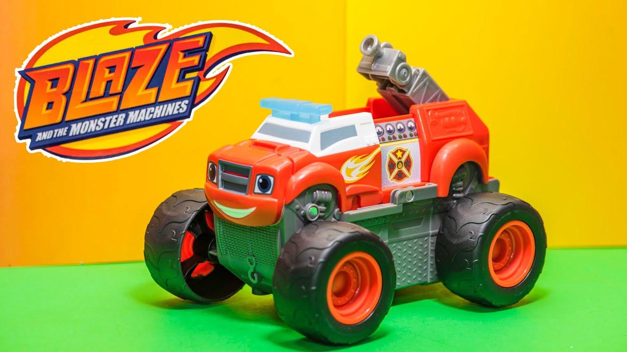 Unboxing The Blaze Transforming Fire Truck Monster Truck Blaze Truck