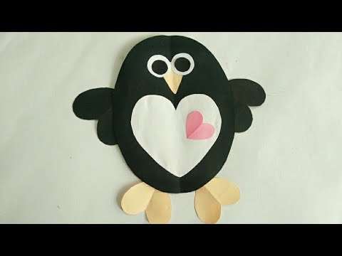 Penguin Christmas Cards Homemade.Diy Penguin Card Cute Penguin Card For Kids Children Day Special Card Simple And Easy Card