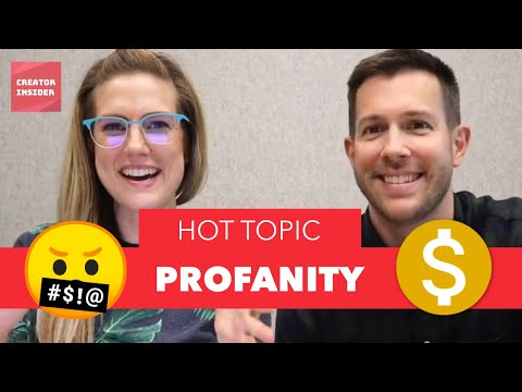 What THE &$!#%!!! ?Profanity in YOUR YouTube videos and how it affects the MONETIZATION icon ?