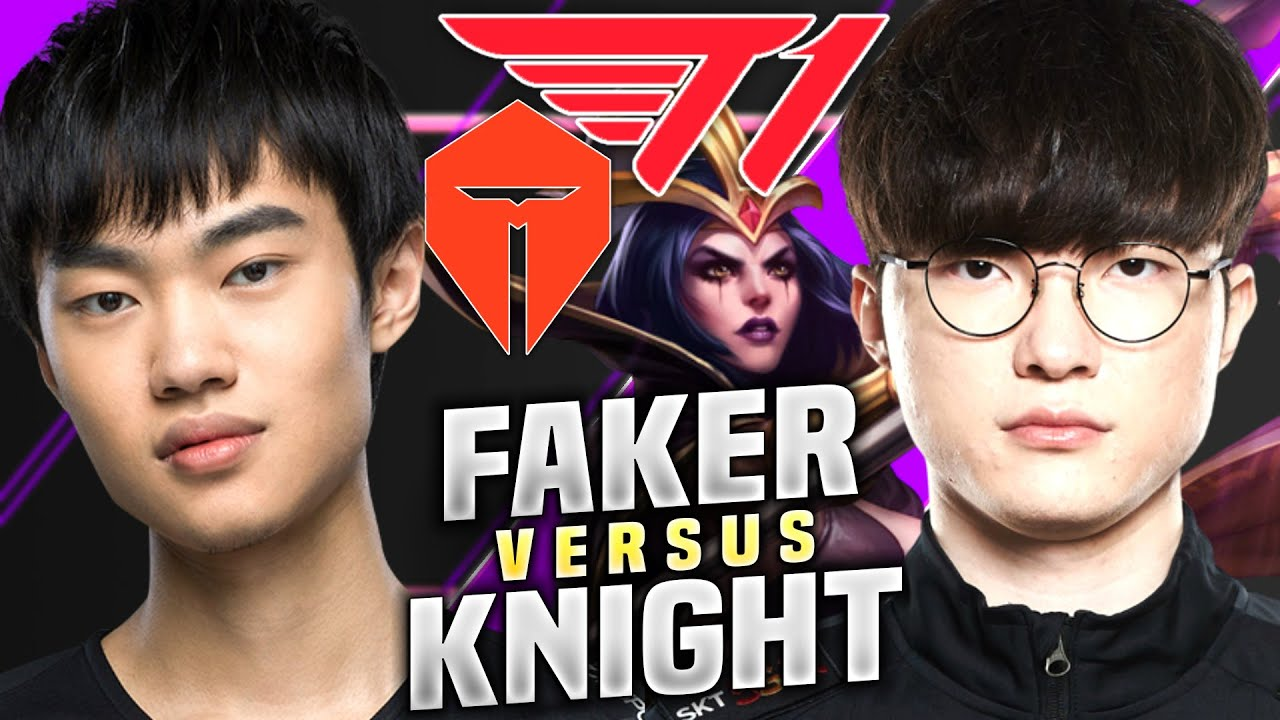 FAKER MEETS THE BEST MID IN CHINA! - T1 Faker Plays Leblanc Mid vs Lissandra! | Faker vs Knight
