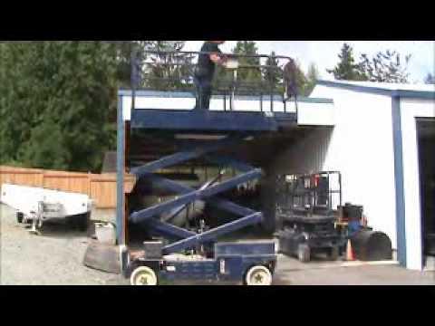 Sold! MEC 2033ES Electric Scissor Lift Aerial Work Platform Man bidadoo.com