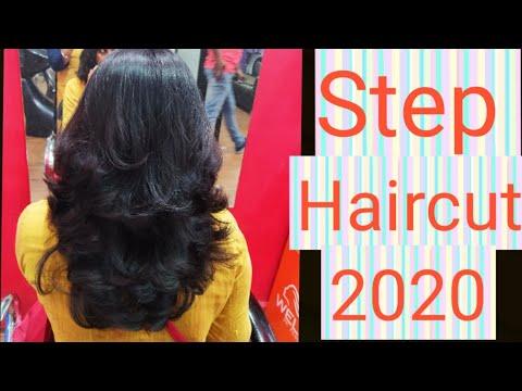 Long to short step haircut / How to cut Madhuri dixit haircut /2 step hairstyle 2020 - YouTube