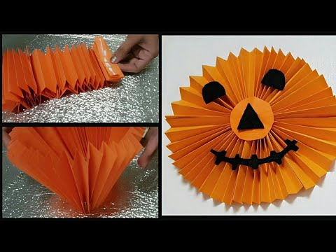 HALLOWEEN Crafts  || #paper pumpkin #DIY Ideas