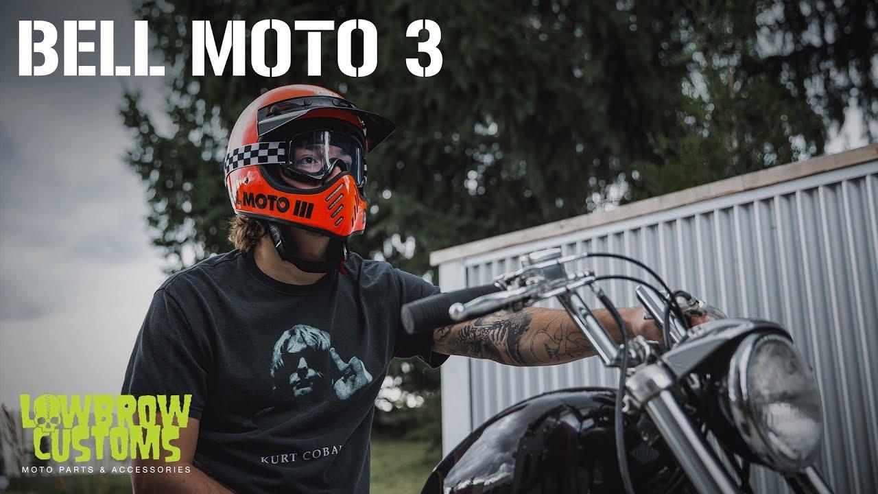 Bell Motorcycle Helmet >> Bell Moto 3 Helmet Overview from Lowbrow Customs - YouTube