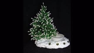 Зимняя елочка из бисера